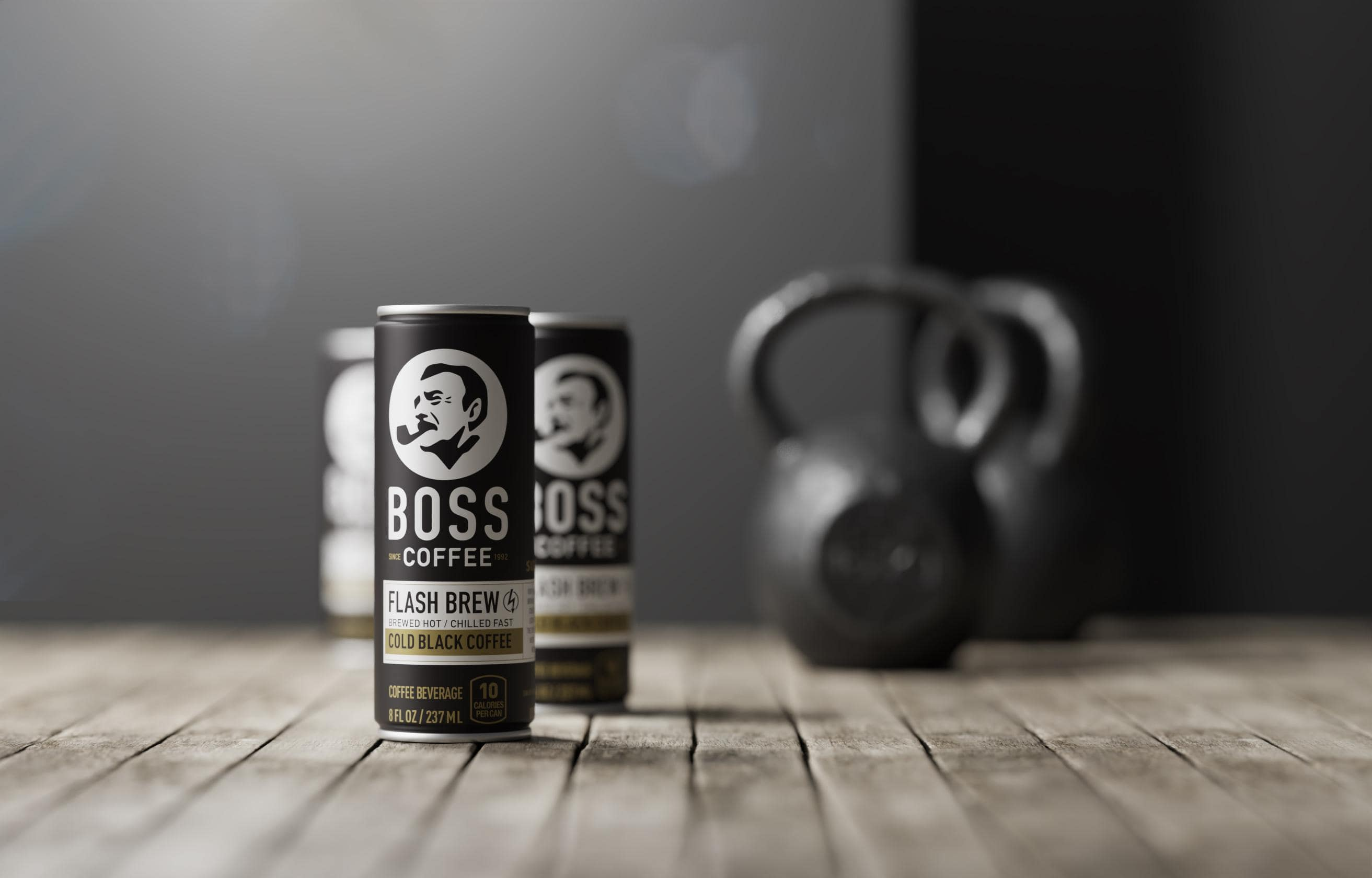 CGI coffee product photography - Gym concept