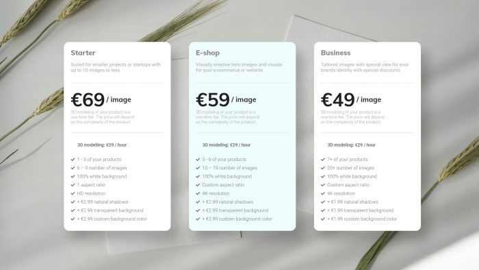 Product photography pricing for 2021