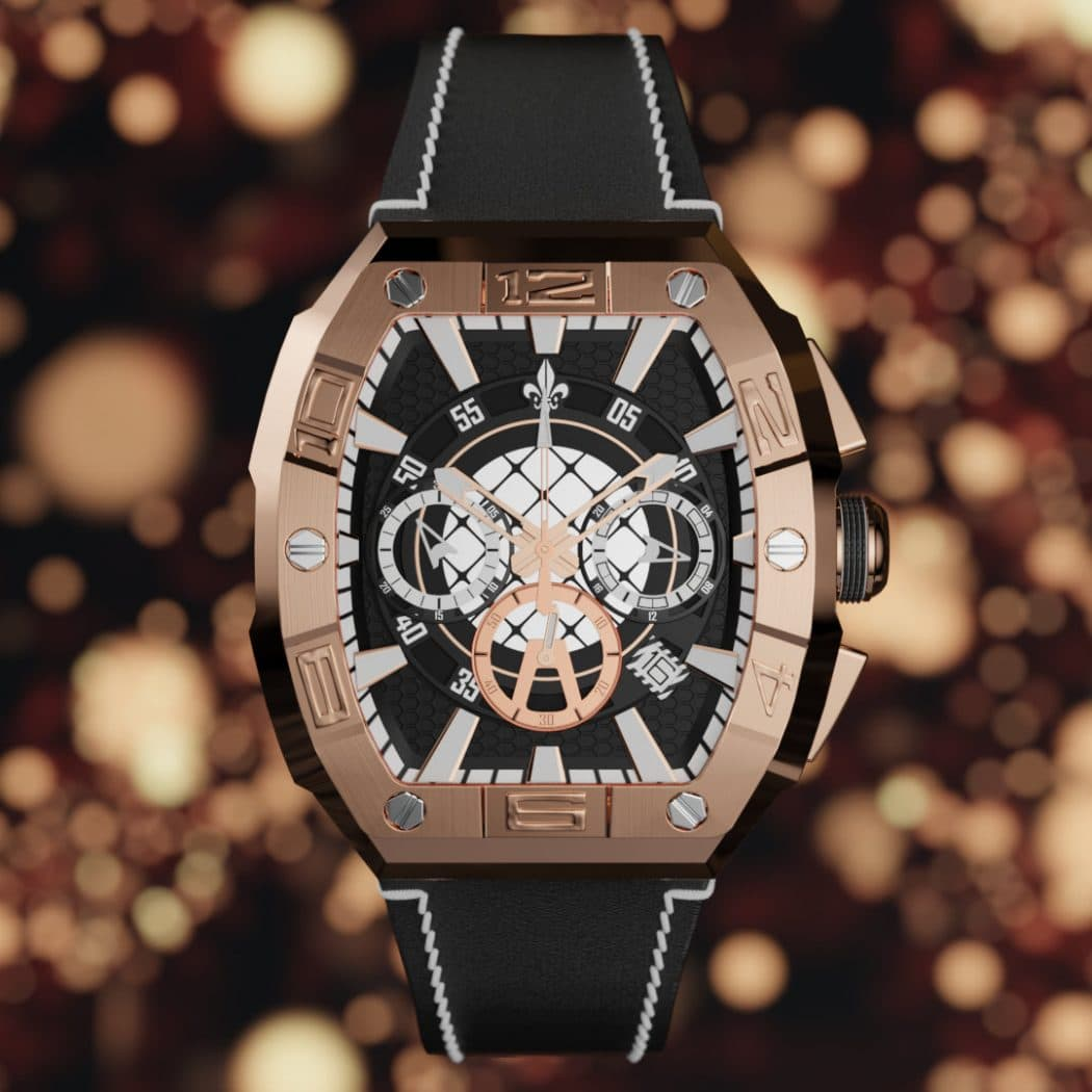 Verical square watch video render image